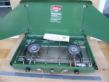 VINTAGE OLD VERY LARGE COLEMAN GREEN METAL GAS COOKER 'OVEN' (F265)