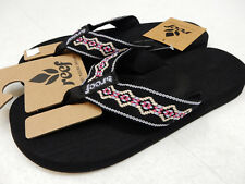 REEF WOMENS SANDALS SANDY BLACK BLUE PINK SIZE 5