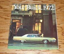 Original 1972 Buick Full Line Sales Brochure 72 Electra Skylark LeSabre