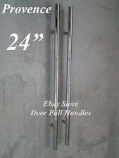"Entry Door Pull Handles 24"" Long Polished Chrome Front Entrance"