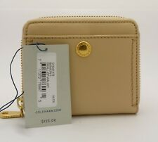 Cole Haan Benson II Small Zip Leather Nude (Tan) Wallet CHD21472 - FREE SHIPPING