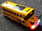 SCHOOL BUS TRANSFORMER ROBOT BUMP GO CAR LED LIGHTS SOUNDS BOYS GIRLS GIFT TOYS
