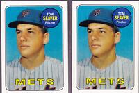 Tom Seaver Mets 2011 60 Years Topps 1969 Original Back 480 + Base 60YOT-18 LOT