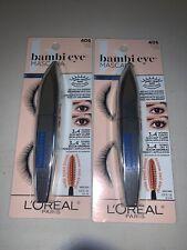 Lot Of 2 - L'Oreal Bambi Eye Mascara, Waterproof, Black #406, NEW & SEALED