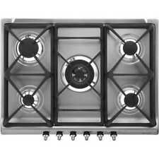 Smeg SE70SGH-5 Built In 68cm 5 Burners Gas Hob Stainless Steel New from AO
