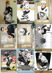 U PICK'EM LOT (210+) Sidney Crosby Base RC Inserts Collection Cards Penguins