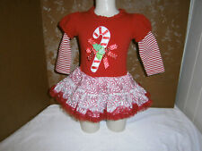 Rare Editions Toddler Christmas Candy Cane Dress, size 24 Months