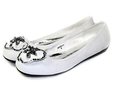 AGATHA-01 Slip On Casual Party Ballet Flat Office Oxford Women Shoes White 7