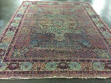 Antique Persian Lavar Oriental Rug Hand Knotted 11' X 8' 8""
