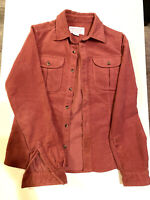 Filson Rust Moleskin Seattle Cotton Long Sleeve Shirt Size Small