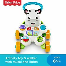Fisher-Price Learn with Me Zebra Walker Baby Toddler Walker 6 Months Plus