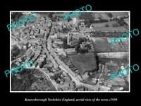OLD LARGE HISTORIC PHOTO OF KNARESBOROUGH ENGLAND, AERIAL VIEW OF TOWN c1930 3