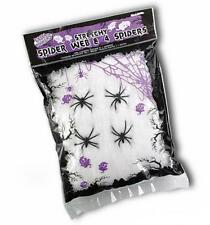 Ragnatela bianca Halloween 60 grammi con 4 ragni