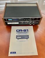 Vintage AKAI CR-81D 8 Track Tape Recorder Stereo Player Original Manual Tested