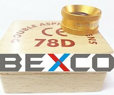 78D GOLDEN Double ASPHERIC LENS in CASE  BEXCO BRAND