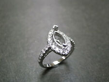 1.50ct Marquise Cut Engagement Fine Ring Semi Mount Setting In 14K White Gold