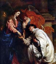 Art Oil painting Anthony van Dyck - Vision of sel. Hermann Joseph Hand painted