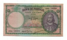 PORTUGAL 20 ESCUDOS 1959 PICK 153 B LOOK SCANS