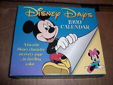 Cal 99 Disney Days Calendar (1999, Calendar) Walt Disney Mickey Mouse NEW