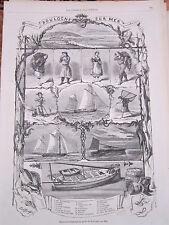 Gravure 1871 - Les étrennes du trappeur