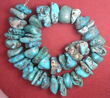 Mexican Turquoise Loose Nugget Beads Old Campitos Accurate Photos # 262