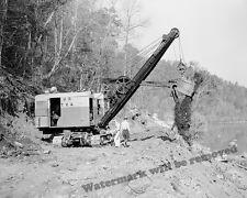 Photograph Vintage Steam / Power Shovel Norris Dam Site 1933  8x10