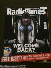 RADIO TIMES - DOCTOR WHO CYBERMEN - MAY 13 2006 WITH STICKER BOOK & STICKERS