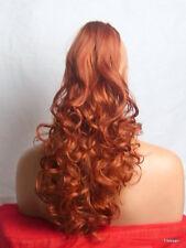 """Clip in Hair Extension Coda Di Cavallo Capelli Ricci Rosso GOLDEN Ginger #130 - 19"""" Kate"""