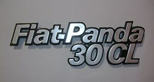 FIAT PANDA 30 CL/ SCRITTA POSTERIORE/ REAR NAMEPLATE BADGE