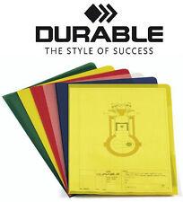 100x DURABLE A4 Sichthüllen Aktenhüllen 120my (0,12mm) verschiedene Farben 2337