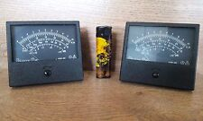 2x Vintage VU METER -20 to +12 DB Decibel Audio gauge VA OHM Big Size