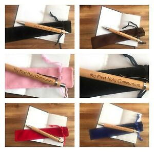 First Holy Communion Pen with Velvet Sleeve Gift Present Confirmation
