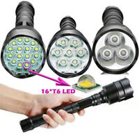 90000LM T6 LED Super Bright Light Rechargeable Tactical Flashlight Torch Lamp