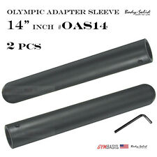 2-pack Body-Solid Stand to Olympic Plate Adapter Sleeve 14 Inch OAS14 & Hex Lock