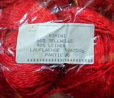 Naturgarne Märker Gmb Rimini Linen Blend Yarn #88 Red 2 Balls 100g Knit Crochet