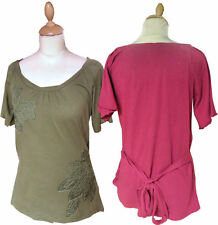 Hips Cotton Scoop Neck Tops & Shirts for Women