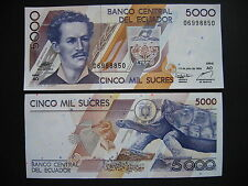 Ecuador 5000 sucres 12.7.1999 serie AO (p128c) UNC
