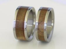 Exotic Sugar Gum Wood Wedding Bands Pure Tungsten & Titanium Ring Sz 4-17