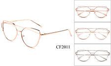 New Metal Fashion Monster Retro Unisex Men Women Clear Lens Nerd Geek Glasses UV
