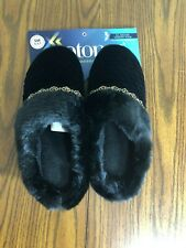 Isotoner Womens Black Slippers Size SM 6.5 - 7 M