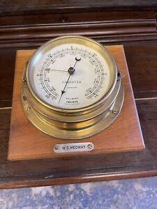 Vintage Ships Aneroid Barometer