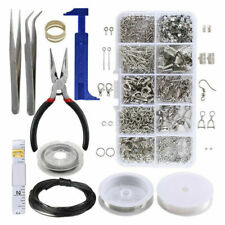 Beads Findings Set Pliers Silver Tool Jewellery Making Kit Set DIY Wire Starter