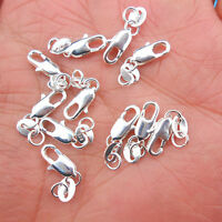 Wholesale Jewelry Connector 925 Sterling silver Lobster Clasps Necklace Pendants