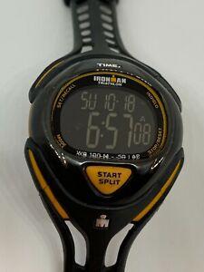 Working Men's Black and Orange Timex Ironman Digital Watch AC
