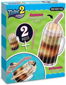 Take 2 Floats Root Beer Water Float & Noodle Pool Blow Up Inflatable Raft