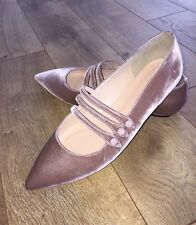 New JCREW Strappy Pointed Toe Flats Velvet Warm Walnut Pink F4858 10.5