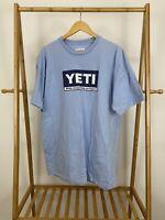 YETI Men's Box Logo Wildly Stronger Keep Ice Longer T-Shirt RARE Size XXL