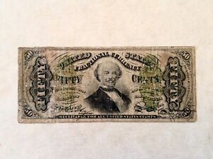 FR. 1339 50 CENTS THIRD ISSUE FRACTIONAL CURRENCY  - SPINNER