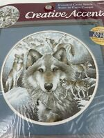"""Dimensions Creative Accents Circle of Wolves 12"""" Counted Cross Stitch Kit"""