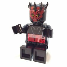 LEGO Star Wars MiniFig Alarm Clock Darth Maul 2012 Red Display Poseable Digital